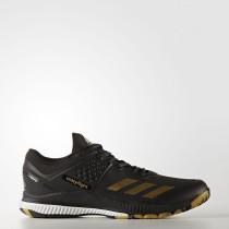 Adidas Hombre Voleibol CrazyfLigero Bounce Zapatillas Core Negro / Oro Met./Ftwr Blancas