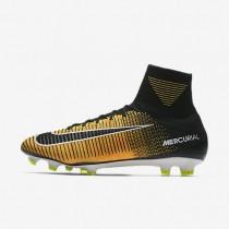 Hombre / Mujer Nike Mercurial Superfly V FG Botas de fútbol para suelo firme 831940-801 Láser Naranja / Blancas / Volt / Negro