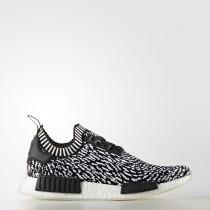 Mujer Hombre Adidas Originals NMD_R1 Primeknit Zapatos Core Negro / Calzado Blancas BY3013