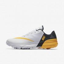 Zapatillas de golf Nike FI Flex Hombre 849960-102 Blancas / Armory Azul marino / Laser Naranja