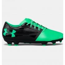 Hombre Under Armour SpotLigero BL Botas de fútbol con suelo firme Negro / Verde (003)