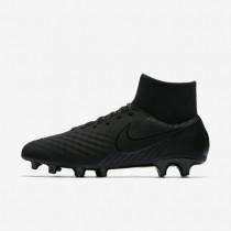 Bota de fútbol hombre / Mujer Nike Magista Onda II Dynamic Fit FG de suelo firme 917787-001 Negro / Negro