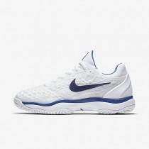 Zapatillas de tenis Nike Zoom Cage 3 Mujer 918199-104 Blancas / Mega Azul / Binary Azul