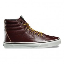 Mujer Vans Ground Breaker SK8-Hi Zapatillas Ron-Raisin / Marshmallow