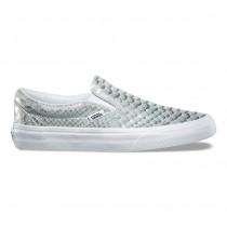 Vans Metallic Snake Slip-On Mujer Plata / true Blancas