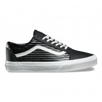 Vans Moto Leather Old Skool Zapatos Mujer Negro / Blancas