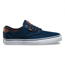 Hombre Vans Brushed Twill Chima Ferguson Pro Zapatos Azul marino