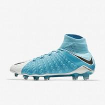 Hombre / Mujer Nike Hypervenom Phantom 3 DF FG Botas de fútbol para suelo firme 860643-104 Foto Azul / Blancas / Cloro Azul / Negro