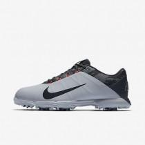 Zapatillas de golf Nike Lunar Fire para hombre 853738-004 Wolf Gris / Negro / Solar Rojo / Chrome
