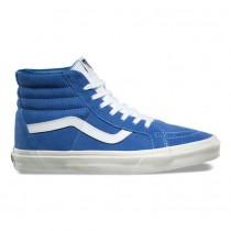 Mujer Vans Retro Sport SK8-Hi Reedición Zapatos Delft Azul / Blancas