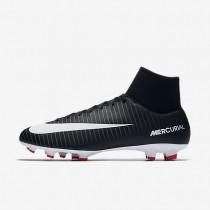 Nike Mercurial Victory VI Dynamic Fit FG Botas de fútbol para suelo firme Hombre / Mujer 903609-002 Negro / Gris oscuro / Universidad Rojo / Blancas