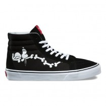 Hombre Vans X Peanuts Sk8-Hi Reedición Zapatos Snoopy Negro