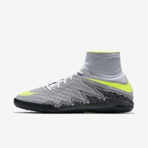 Hombre / Mujer Nike HypervenomX Proximo II IC Zapatillas de fútbol para interiores / patios 747486-070 Wolf Gris / Stealth / Anthracite / Volt