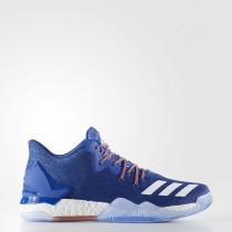 Hombre Baloncesto Adidas D Rose 7 Low Zapatillas Azul-Sld / Calzado Blancas / Naranja-Sld BY4499