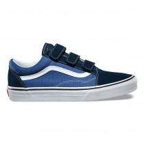 Vans Suede Old Skool V Zapatos Hombre Vestido Azul / True Azul marino