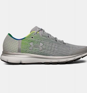 Hombre Under Armour SpeedForm® Velociti Zapatillas para correr con diseño gráfico Gris / Verde (941)