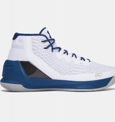 Zapatillas de baloncesto Under Armour Curry Three Hombre Blancas / Azul (105)