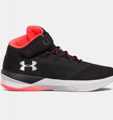 Hombre Under Armour Get B Zee Zapatillas de baloncesto Negro / Rojo (001)