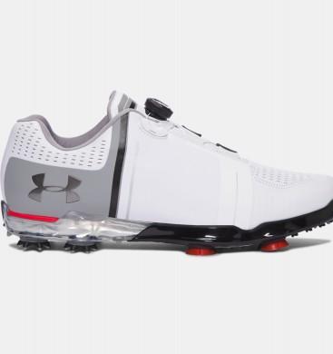 Hombre Under Armour Spieth One Zapatos de golf BOA ™ Blancas / Gris (100)