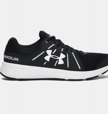 Zapatillas para correr Under Armour Dash 2 Hombre Negro / Blancas (001)