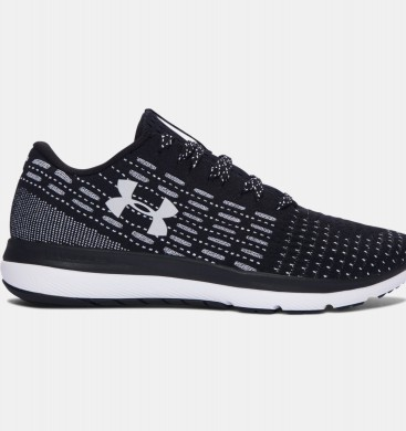 Hombre Under Armour Threadborne Slingflex Zapatos Negro / Blancas (004)