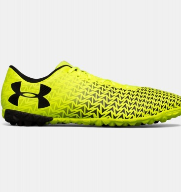 Zapatos de fútbol Hombre Under Armour CF Force 3.0 Turf Amarillo (726)