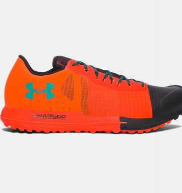 Hombre Under Armour Horizon KTV Trail Running Zapatillas Naranja / Negro (296)
