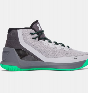 Hombre Under Armour Curry Three Zapatillas de baloncesto Gris (289)