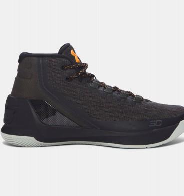 Zapatillas de baloncesto Under Armour Curry Three Hombre Azul / Marrón / Naranja