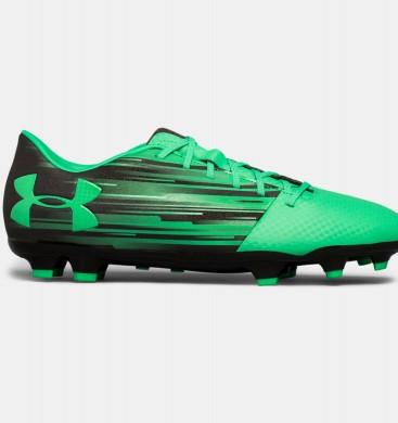 Under Armour SpotLigero DL Botas de fútbol con suelo firme Hombre Negro / Verde (003)