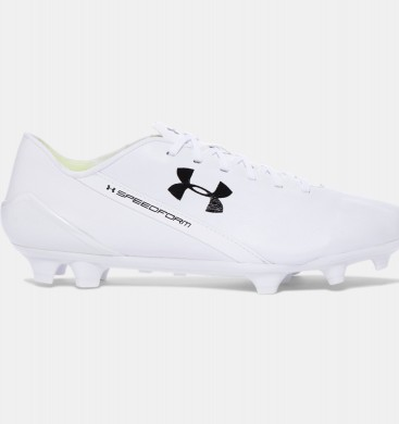 Hombre Under Armour SpeedForm® CRM LTHR Botas de fútbol Blancas (111)