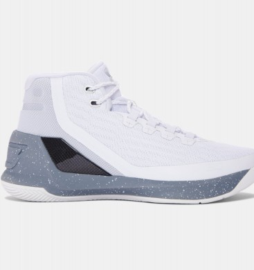 Hombre Under Armour Curry Three Zapatillas de baloncesto Blancas (101)