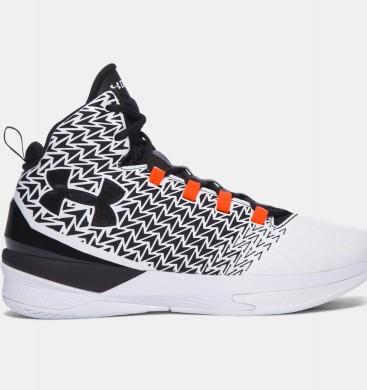 Hombre Under Armour ClutchFit® Drive 3 Zapatillas de baloncesto Blancas / Negro / Rojo (108)