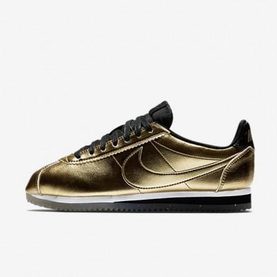 Zapatillas Nike Classic Cortez Leather SE Mujer 902854-700 Metallic Oro / Blancas / Negro / Metallic Oro