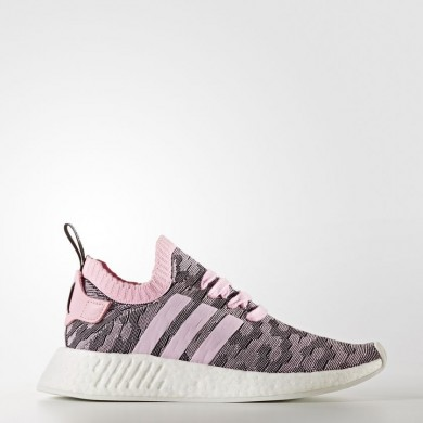 Adidas Originals NMD_R2 Primeknit Zapatos Mujer Wonder Fucsia / Wonder Fucsia / Core Negro BY9521