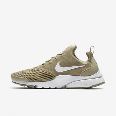 Zapatillas Nike Presto Fly Hombre 908019-202 Caqui / Blancas