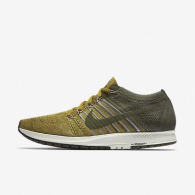 Zapatillas de running NikeLab Zoom Flyknit Streak Mujer Hombre 904711-300 Musgo de desierto / Carbón de leña ligero / Caqui de vela / cargo