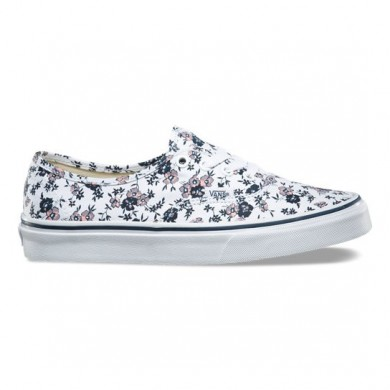 Vans Ditsy Bloom Zapatos Auténticos Mujer True Blancas / Fucsia / Azul