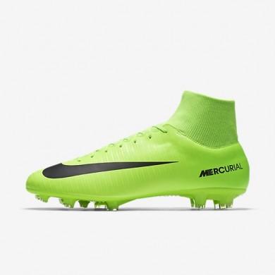 Nike Mercurial Victory VI Dynamic Fit FG Botas de fútbol para suelo firme Hombre / Mujer 903609-303 Eléctricas Verde / Flash Lime / Blancas / Negro