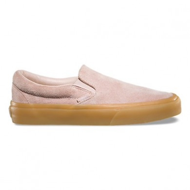 Vans Fuzzy Suede Slip-On Mujer rosa sepia / Marrón