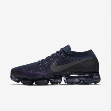 Zapatillas de running Hombre NikeLab Air VaporMax Flyknit 899473-402 College Azul marino / Noche Púrpura / Jade transparente / Gris oscuro