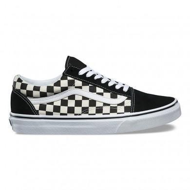 Vans Primary Check Old Skool Zapatos Mujer Negro / Blancas