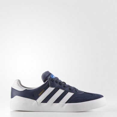 Hombre Adidas Originals Busenitz Vulc RX Zapatos Colegial Azul marino / Calzado Blancas / Azulbird BY3978