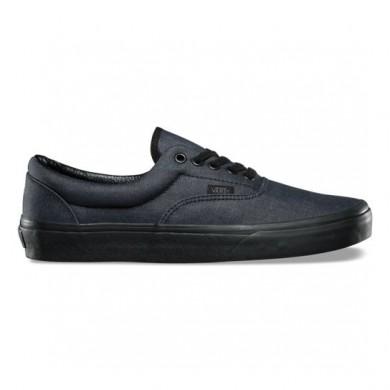 Hombre Vans Mono Chambray Era Zapatos Negro