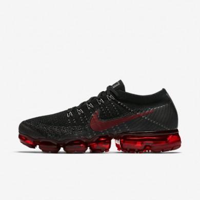 Hombre Nike Air VaporMax Flyknit Zapatillas de Running 849558-013 Negro / Midnight Fog / Gym Rojo / Oscuro Team Rojo