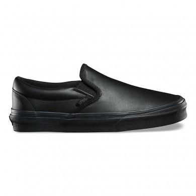 Vans Leather Classic Slip-On DX Zapatos Mujer Negro / Mono