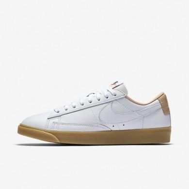 Zapatillas Nike Blazer Premium Low Mujer 454471-101 Blancas / Vachetta Tan / Gum Ligero Marrón / Blancas
