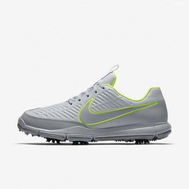 Zapatillas de golf Nike Explorer 2 S Hombre 922004-001 Pure Platinum / Volt / Wolf Gris
