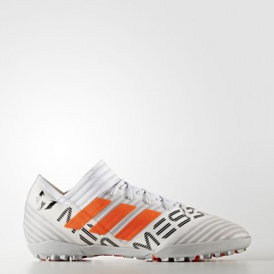 Hombre Adidas Fútbol Nemeziz Messi Tango 17.3 Botas de césped Calzado Blancas / Solar Naranja / Core Negro S77193