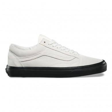 Hombre Vans Suede Old Skool Zapatos Blancas / Negro